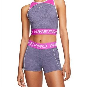 "NWT Nike Pro tight fit 3"" training shorts."